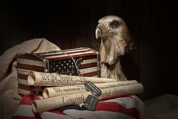 A print representing American patriotism.